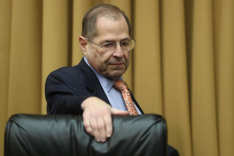 FILE PHOTO - House Judiciary Committee Chairman Nadler arrives at House Judiciary Committee oversight hearing on Special Counsel Mueller report on Capitol Hill in Washington