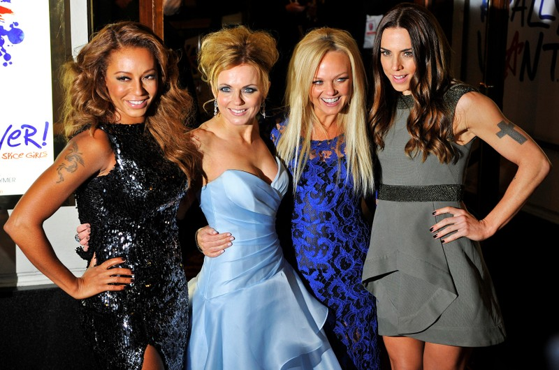 FILE PHOTO: Spice Girls members arrive for the premiere of the musical