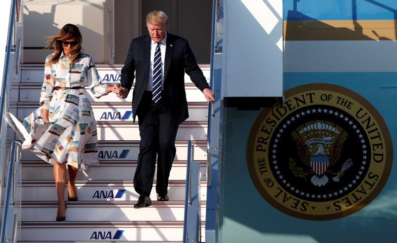 U.S. President Donald Trump and first lady Melania Trump visit Japan