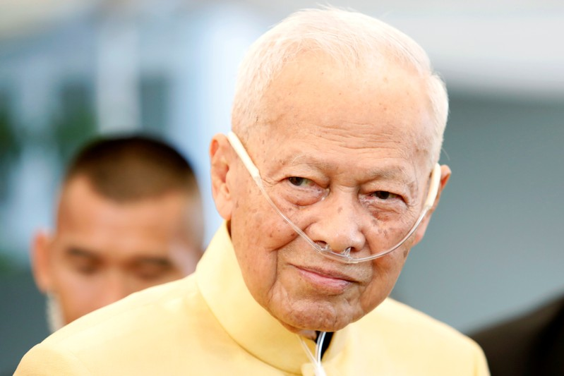 Thailand's former Prime Minister and President of the Royal Privy Council Prem Tinsulanonda is seen during an official event in Bangkok