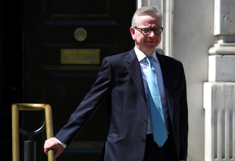 Britain's Secretary of State for Environment, Food and Rural Affairs Michael Gove is seen outside the Cabinet Office in London