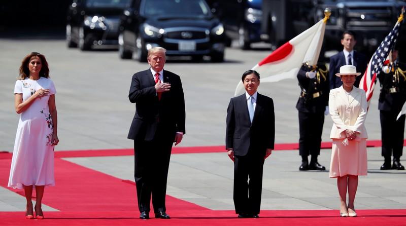 U.S. President Trump meets Japan's Emperor Naruhito and Empress Masako
