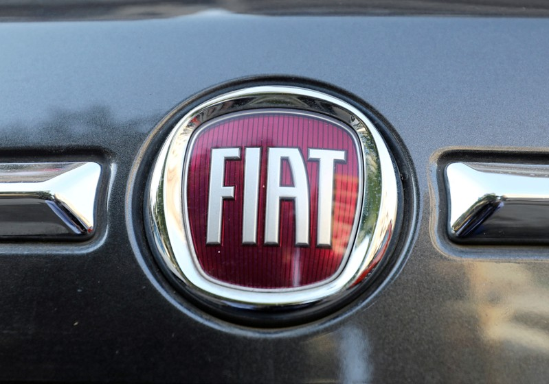 FILE PHOTO: The logo of FIAT carmaker is seen on a vehicle in Cairo