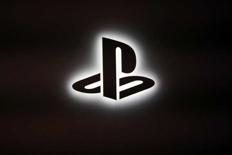 Sony Playstation logo is seen in Tokyo