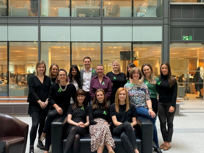 The first Mental Health First Aiders in the Goldman Sachs London office on Fleet Street are seen in London