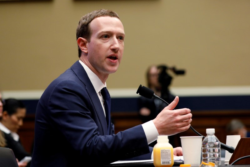 FILE PHOTO: FILE PHOTO: Facebook CEO Zuckerberg testifies before House Energy and Commerce Committee hearing on Capitol Hill in Washington