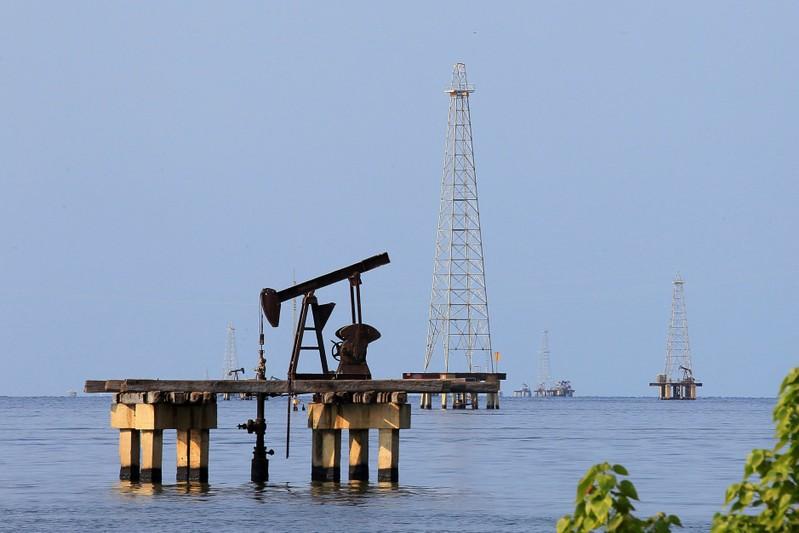 FILE PHOTO: Oil facilities are seen on Lake Maracaibo in Cabimas
