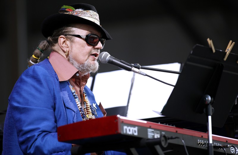 Musician Dr. John performs during the New Orleans Jazz and Heritage Festival in New Orleans