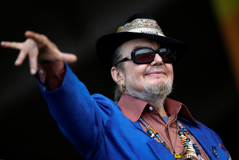 FILE PHOTO: Musician Dr. John gestures to the crowd during the New Orleans Jazz and Heritage Festival in New Orleans