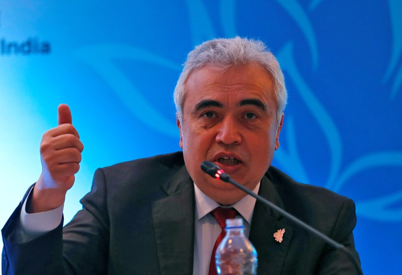 Fatih Birol, Executive Director of the International Energy Agency, speaks with the media during International Energy Forum in New Delhi