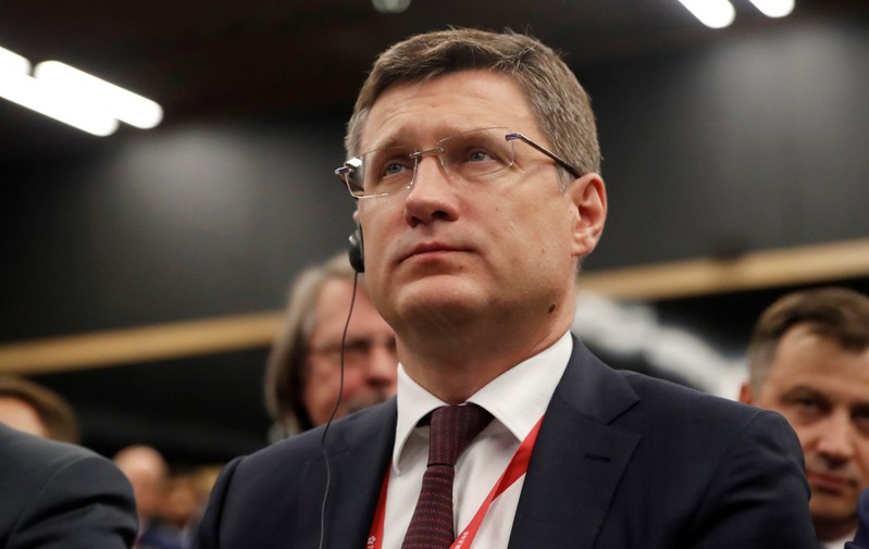 FILE PHOTO: Russian Energy Minister Alexander Novak attends a session of the St. Petersburg International Economic Forum