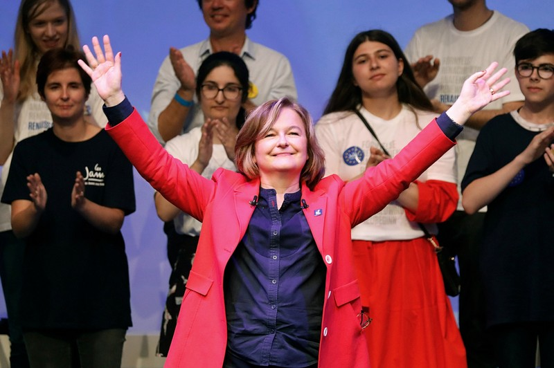 FILE PHOTO: Nathalie Loiseau, head of the Renaissance (Renewal) list for the European elections attends a political rally in Paris