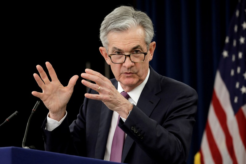FILE PHOTO: FILE PHOTO: Federal Reserve Board Chairman Jerome Powell holds a news conference in Washington
