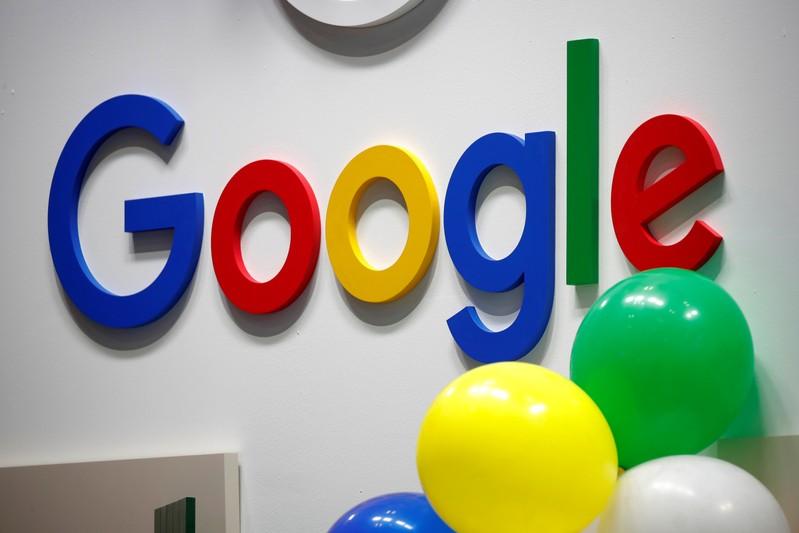 FILE PHOTO: Logo of Google is seen at VivaTech fair in Paris