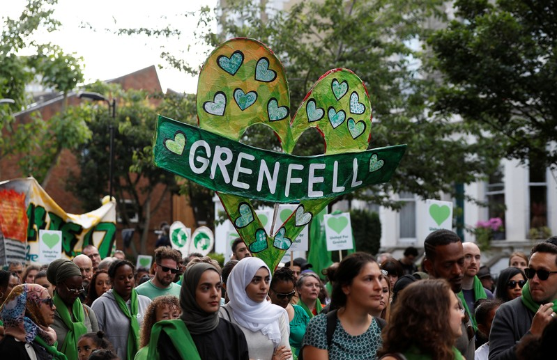 FILE PHOTO - Grenfell Tower fire first anniversary Silent March in London