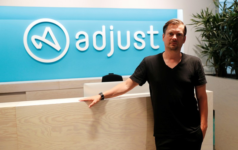 Christian Henschel, CEO and co-founder of Adjust poses in Berlin