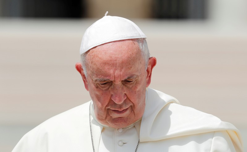 FILE PHOTO: Pope Francis holds his weekly general audience at the Vatican