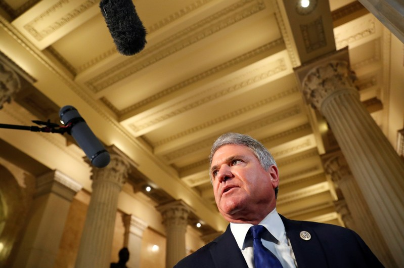 U.S. Representative Michael McCaul, the Chairman of the Homeland Security Committee, speaks to the news media at the U.S. Capitol in Washington