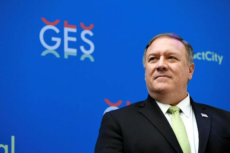 U.S. Secretary of State Mike Pompeo speaks at the GES 2019
