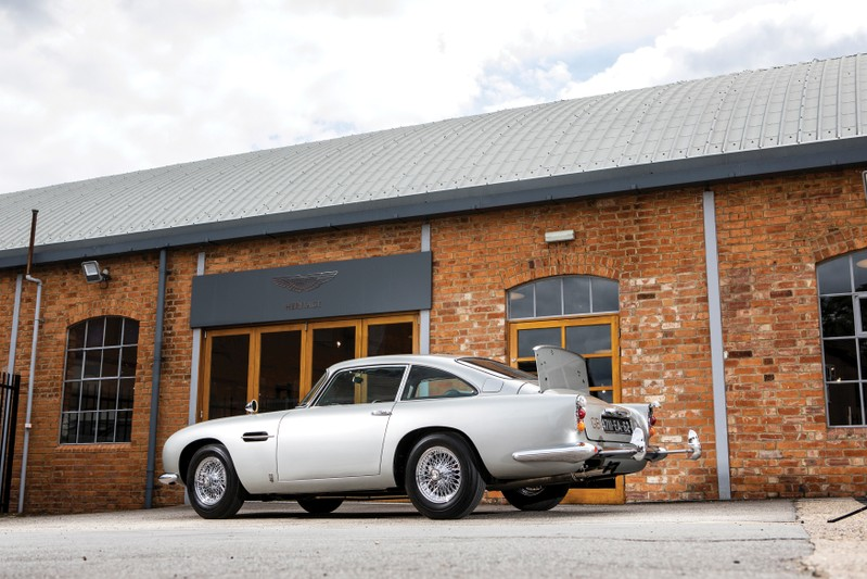 Handout photo of an original Aston Martin DB5 James Bond car