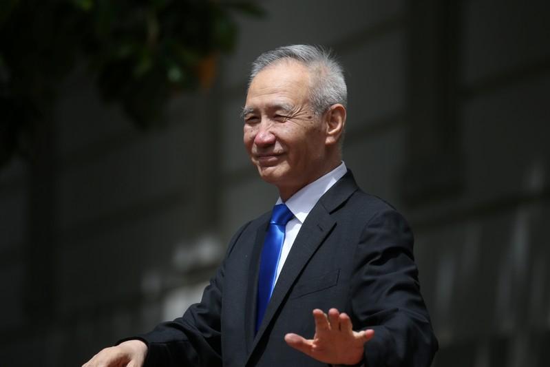 U.S.-China officials hold trade talks at the U.S. Trade Rpresentative's Office in Washington
