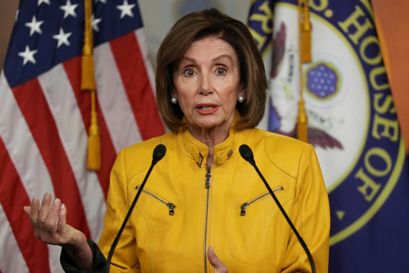 House Speaker Nancy Pelosi holds weekly news conference with Capitol Hill reporters in Washington
