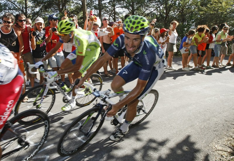 Movistar Team rider Juan Jose Cobo of Spain cycles during the sixth stage of the Tour of Spain