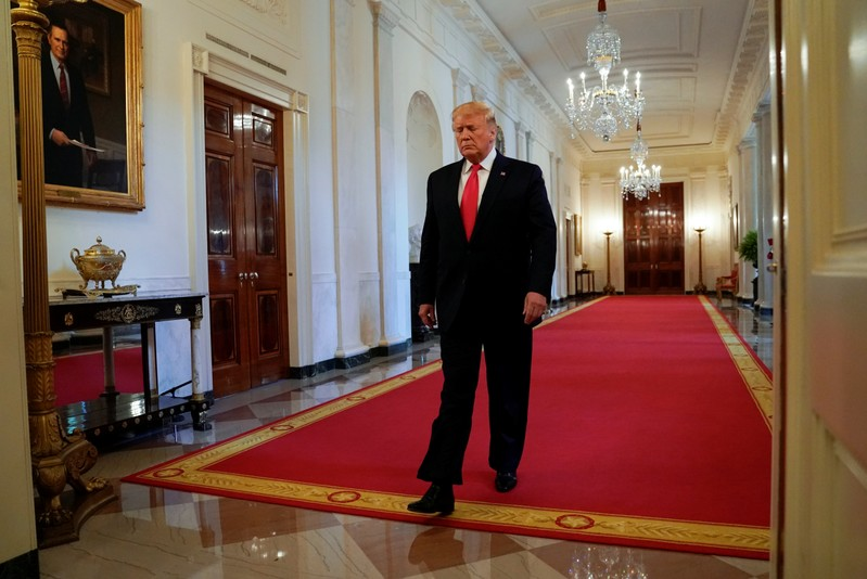 Trump speaks about second chance hiring at the White House in Washington