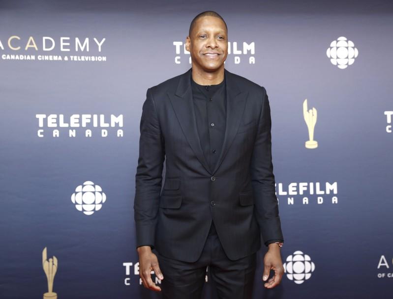Toronto Raptors president Masai Ujiri arrives at the Canadian Screen Awards in Toronto