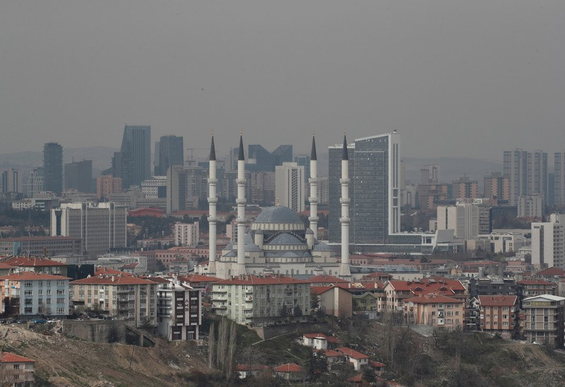 FILE PHOTO: A general view of residential and commercial areas in Ankara