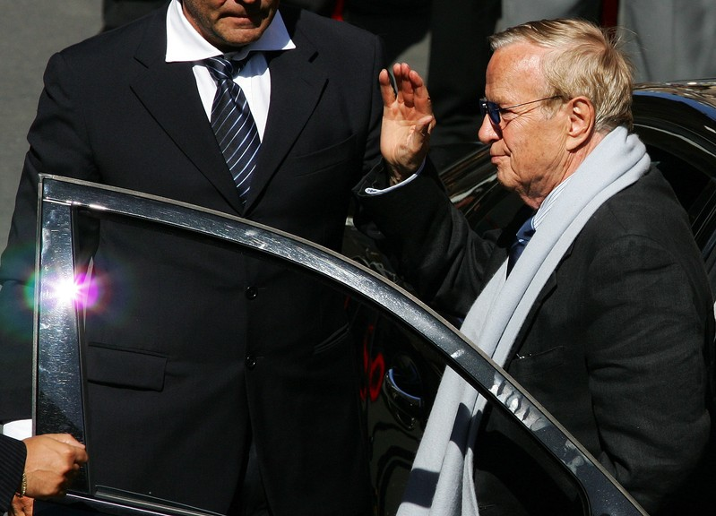 FILE PHOTO: Italian director Franco Zeffirelli arrives to attend Luciano Pavarotti's funeral at the cathedral of Modena