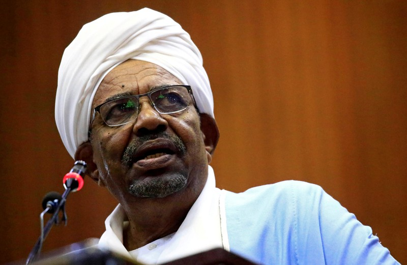 FILE PHOTO: Sudanese President Omar al-Bashir delivers a speech inside Parliament in Khartoum