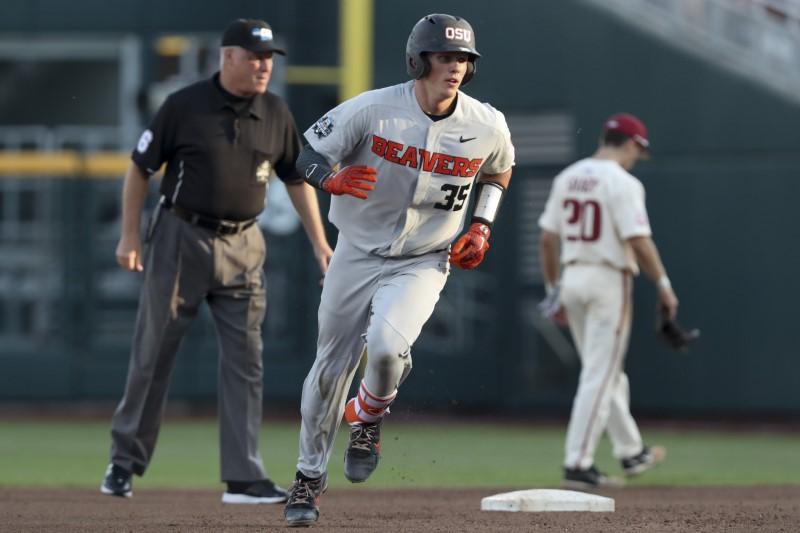 FILE PHOTO: NCAA Baseball: College World Series-Arkansas vs Oregon State