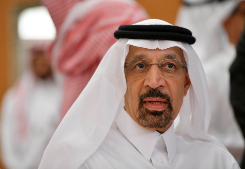 FILE PHOTO: Saudi Arabian Energy Minister Khalid al-Falih, is seen after the OPEC 14th Meeting of the Joint Ministerial Monitoring Committee in Jeddah