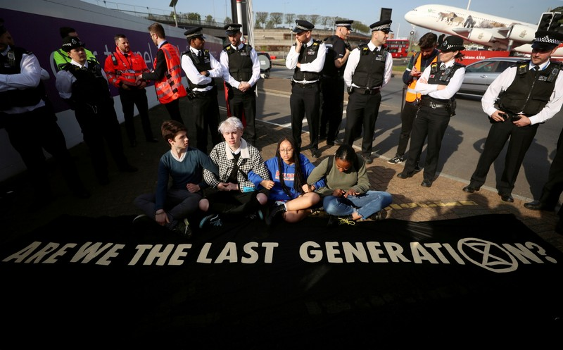 FILE PHOTO: Extinction Rebellion protest in London