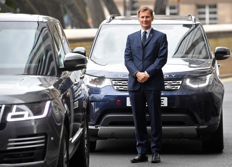 Hunt, leadership candidate for Britain's Conservative Prime Minister, attends a hustings event in London