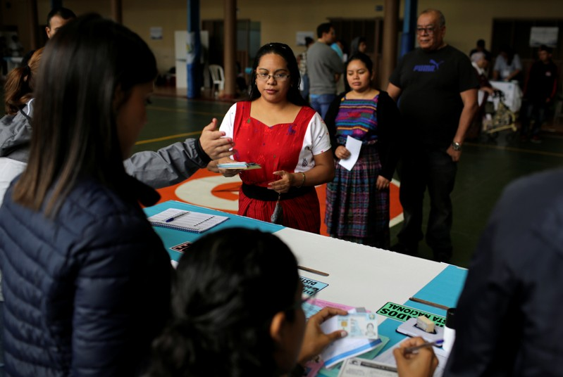First round of presidential election in Guatemala