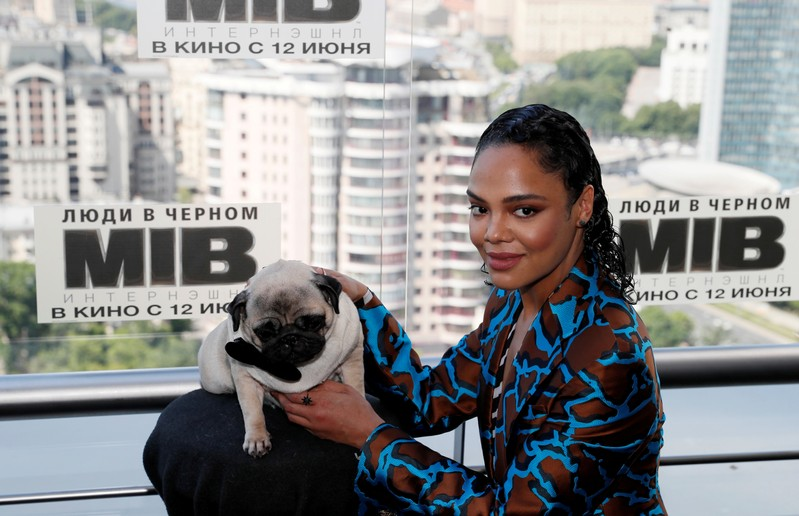 FILE PHOTO: Tessa Thompson poses for a picture during a photocall for the film