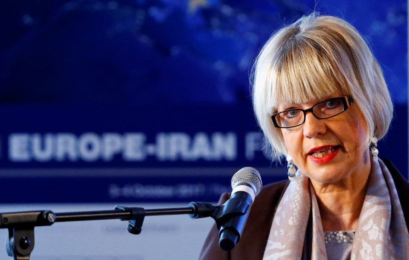FILE PHOTO: Schmid, Secretary General of European External Action Service, addresses 4th Europe-Iran Forum in Zurich