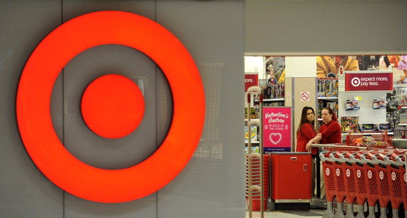 FILE PHOTO: File photo of employees working at a Target store at St. Albert