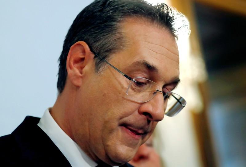 FILE PHOTO: Austrian Vice Chancellor Heinz-Christian Strache addresses the media in Vienna