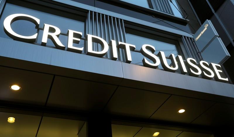 FILE PHOTO: Logo of Swiss bank Credit Suisse is seen in Winterthur