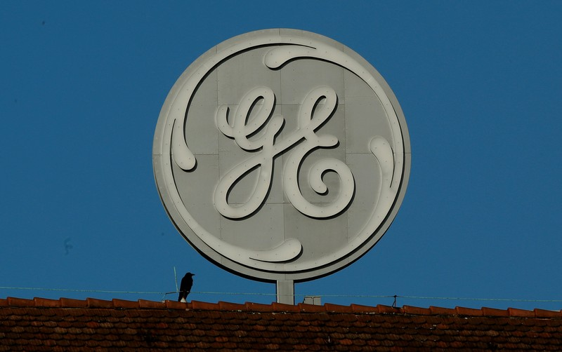 FILE PHOTO - Logo of General Electric is seen in Baden