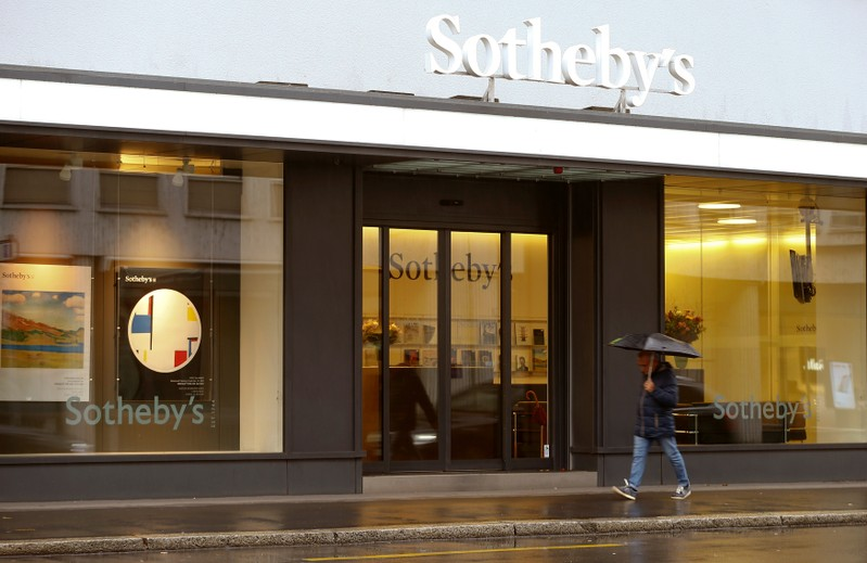 FILE PHOTO: Logo of Sotheby's auction house is seen in Zurich