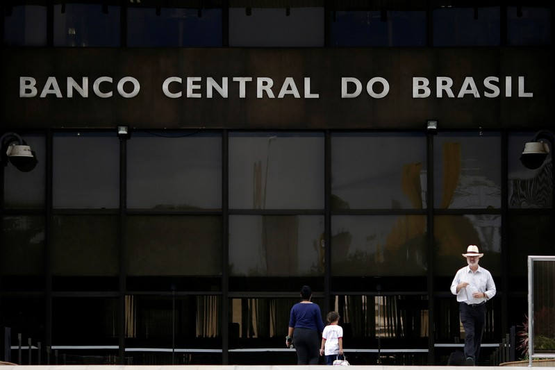 FILE PHOTO: The central bank headquarters building is seen in Brasilia