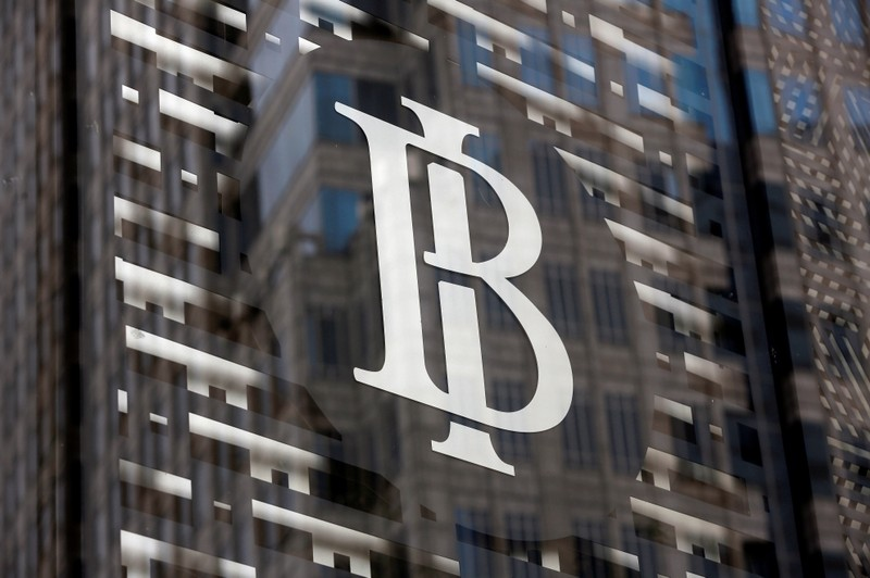 FILE PHOTO: Bank Indonesia's logo is seen at Bank Indonesia headquarters in Jakarta