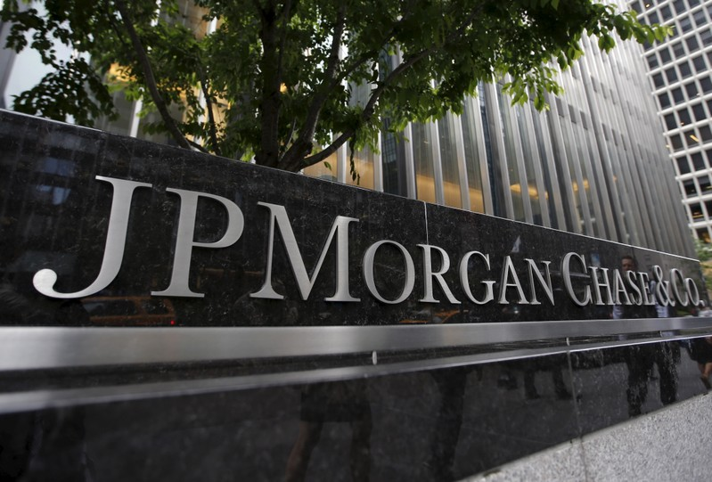 FILE PHOTO: JP Morgan Chase & Co. corporate headquarters in New York
