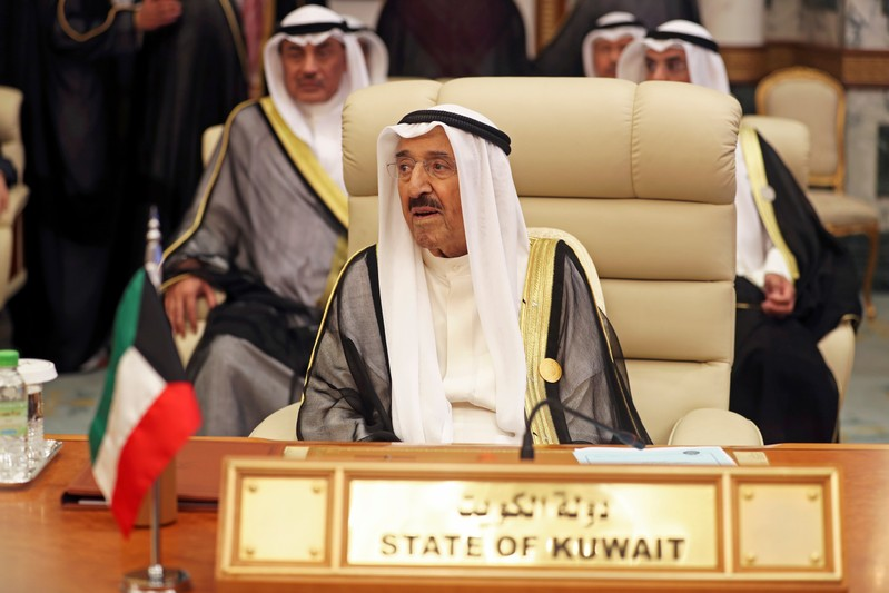 FILE PHOTO - Kuwaiti Emir Sheikh Sabah al-Ahmad al-Jaber al-Sabah is seen during the Arab summit in Mecca