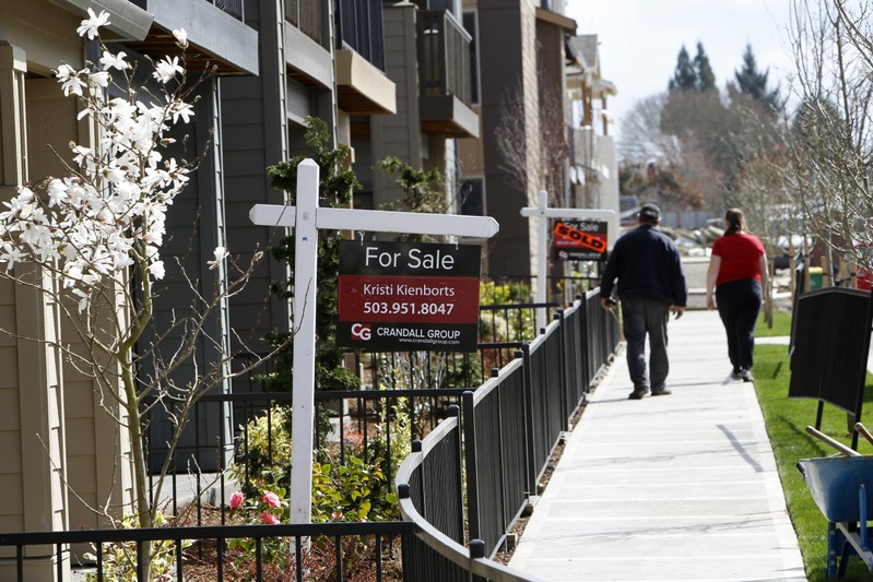 FILE PHOTO: Homes are seen for sale in the southwest area of Portland