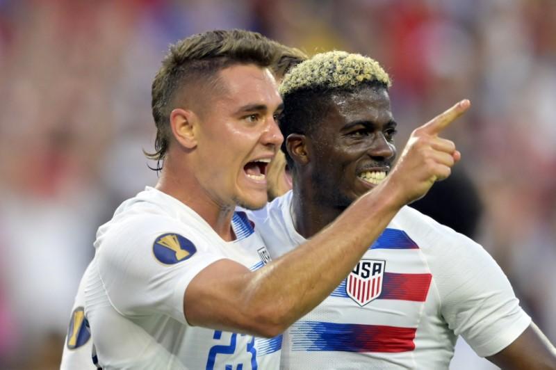 Soccer: CONCACAF Gold Cup-USA at Trinidad and Tobago